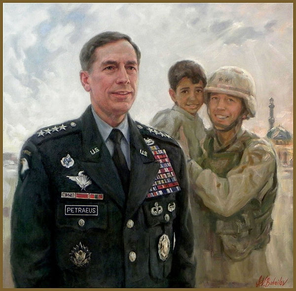 Official Portrait of General David H. Petraeus, U.S. Military Commander and CIA Director. By Igor Babailov.