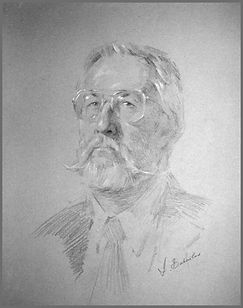 Portrait of Tom Eckley, Cincinnati Art Club portrait drawing demo by Igor Babailov
