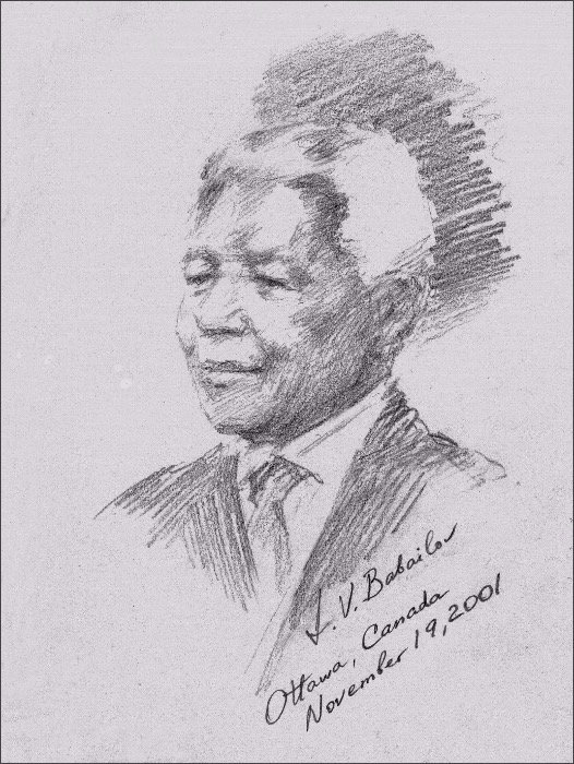 Official Portrait of Nelson Mandela (Graphite Drawing from Life), by Igor Babailov. Drawn from Life by Igor Babailov at the official ceremony in Ottawa, Canada, honoring Nelson Mandela with the Honorary Canadian citizenship. Upon completion, this life portrait was presented to Nelson Mandela by Canadian Prime Minister on behalf of the People of Canada.