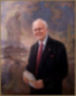 Official portrait of Michael Novak, oil on canvas, by portrait artist Igor Babailov.