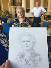 Malta - portrait of Tatiana Maligina, by Igor Babailov. Collection of the Ambassador and Mrs. V. Maligin.