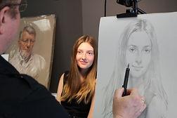 Portrait sketch of Grace, by Igor Babailov