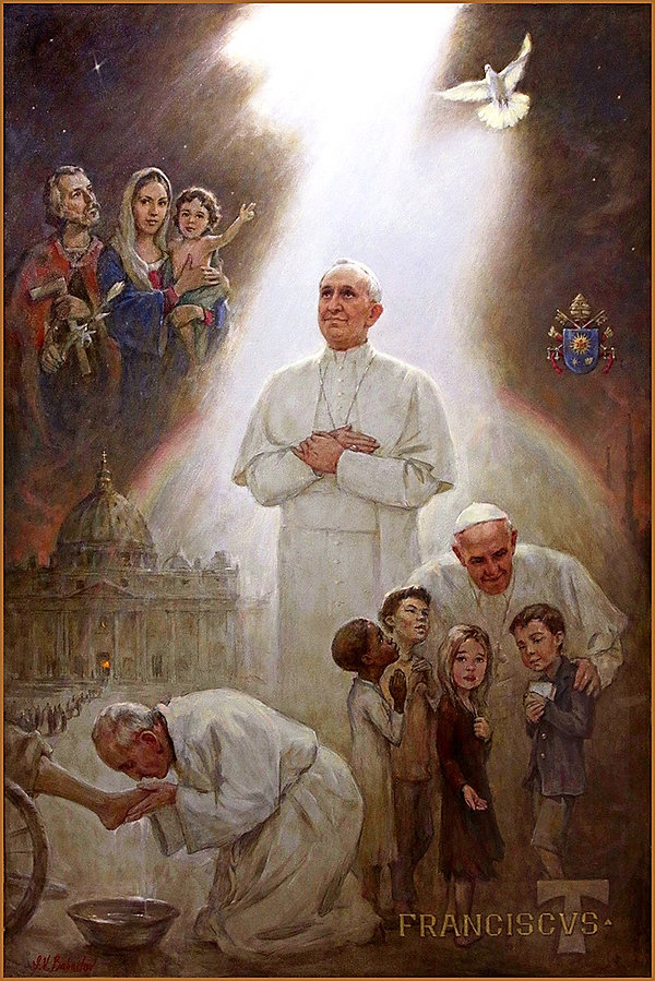 Official Portrait of Pope Francis, by Igor Babailov. Collection: Vatican. Mural-size paintings by Igor Babailov.