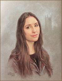 The Eberstadt Children - Portrait of Zandi. Pastel by portrait artist Igor Babaiov. Private Collection: Washington, DC.