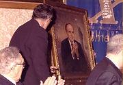 Портрет Мэра Нью-Йорка Руди Джулиани. Также присутствовал Хенри Киссинджер. Художник Игорь Бабайлов.