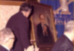 Giuliani Portrait & Henry Kissinger. Official Portrait of Mayor Rudy Giuliani by Igor Babailov - Portrait unveiling, New York City