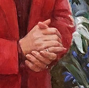 Hands in the Portrait of Martha-Ann Alito. Igor Babailov - painting female hands in portraits. The Seven Essentials of Portraiture.