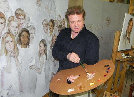 Igor Babailov - Palette, Artist's Studio.