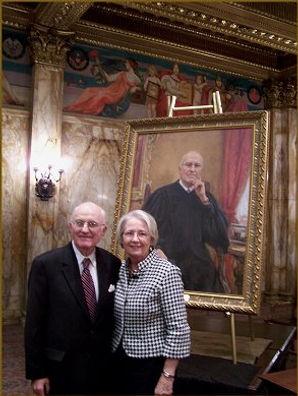 Justice and Mrs. Sullivan, official portrait unveiling, portrait by portrait artist Igor Babailov