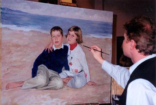Portrait of the grandchildren of Doiph and Sharon Von Arx, Naples, FL. Portraits of children by portrait artist Igor Babailov.