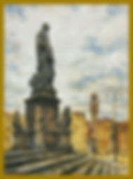 Santa Croce, Florence. Painting en Plein Air by Igor Babailov