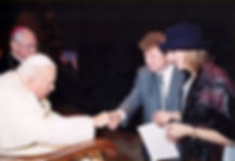 Igor Babailov's Audience with Pope John Paul II