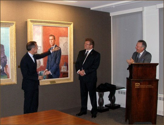 Official unveiling of the portrait of Governor Mark Carney.