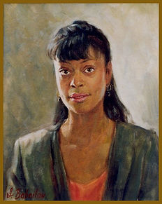 Portrait of Terrie (oil on canvas), portraits of African-Americans by portrait artist Igor Babailov.