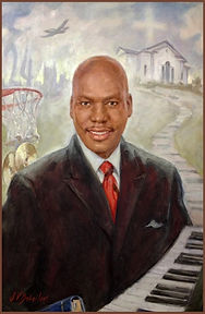 Portrait of Ben Tankard, American gospel/smooth jazz musician, producer, reality-TV personality, portrait by Igor Babailov