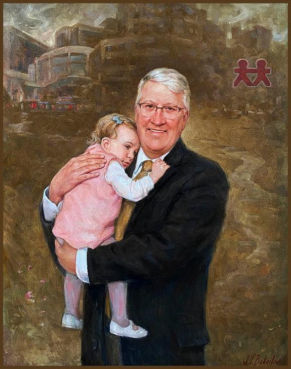 Official portrait of Luke Gregory, CEO, Vanderbilt Children's Hospital, by Igor Babailov, Nashville, TN.