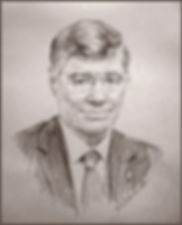 Portrait of Tom Monaghan - Founder of Domino Pizza, Owner of Detroit Tigers, Chancelor of Ave Maria University. Portrait by Igor Babailov.