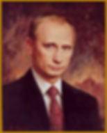 Official Portrait of President Putin, the President of Russia, by Igor Babailov.