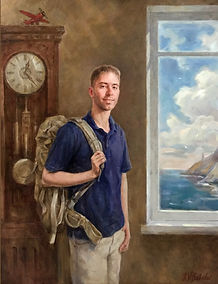 From Home to the Marines, Portrait of Grant Gibbs, by portrait artist Igor Babailov, Private collection: Brentwood, Tennessee
