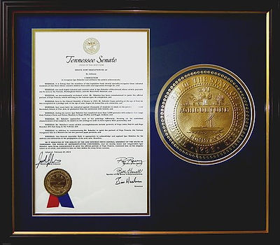 Igor Babailov - The Honor of TN Senate Resolution No 69, signed into law by Governor Bill Haslam.