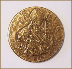 Official Bronze Medal of the Pontificate of His Holiness Pope St. John Paul II, presented to Igor Babailov.