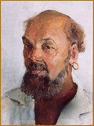 Portrait of a Gipcy Man, by Valery Babailov, Igor Babailov's father.