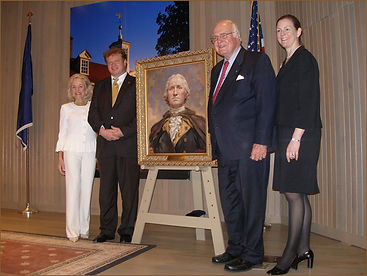 Portrait of George Washington, by Igor Babailov. Official unveiling. Collection: Mount Vernon Museum