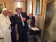 Портрет Папы Римского Франциска, художник Игорь Бабайлов
