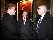 Портрет пианиста Байрона Джаниса. И.Бабайлов с Байроном Джанисом и доктором Джеймсом Ватсоном, который открыл ДНК.