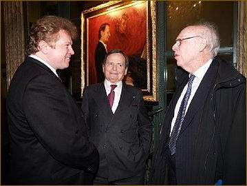 American Pianist Byron Janis's portrait unveiling - with Dr. James Watson, discoverer of DNA