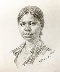 Portrait of Alicia, Drawings by Igor Babailov