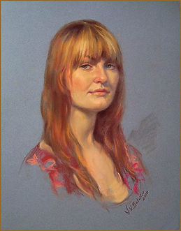 Portrait of Mary Kirby (pastel), by portrait artist Igor Babailov