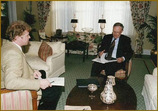 Prime Minister Jean Chretien - Portrait sitting, portraits by Igor Babailov. 24 Sussex Prime Minister residence., Ottawa, Canada.