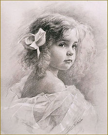 Portrait of a Little Girl (charcoal), by Igor Babailov