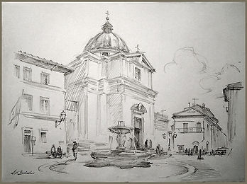 Vatican, Castel Gandolfo, the Square, by Igor Babailov