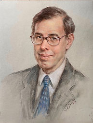 "Portrait of Nicholas ""Nick"" Eberstadt, American Enterprise Institute, Inving Kristol Award 2020 (Pastel), by portrait artist Igor Babailov, Collection: Washington, DC."
