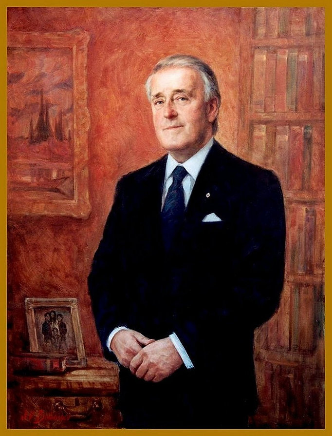 Official Portrait of Brian Mulroney, 18th Prime Minister of Canada, by Igor V. Babailov. Collection: House of Commons, Parliament Hill, Ottawa, Canada.