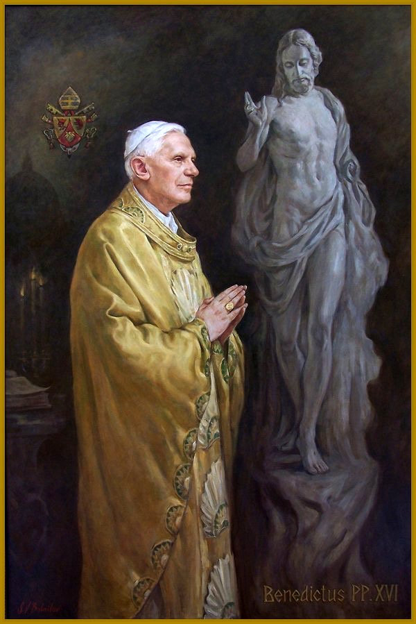Official Portrait of Pope Benedict XVI, by Igor Babailov. Collection: Vatican.