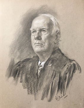 Portrait of Judge Seth Norman, Nashville, TN (Charcoal sketch from life) - Drawings by Igor Babailov