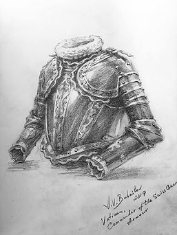 Life drawing of the Commander's armor - Pontifical Swiss Guard, by Igor Babailov