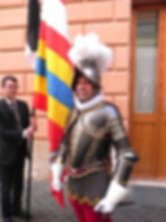 Portrait session with Col. Christoph Graf, Commander of the Pontifical Swiss Guard, with Igor Babailov