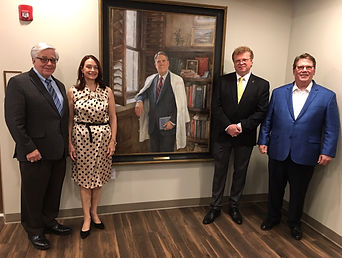 Wright Pinson portrait unveiling, with Dr. Billy Hudson, Dr. Julie Hudson, Igor Babailov, Hon.RAA, Dr. C.Wright Pinson, CEO Vanderbilt Health System, at the Hospital Hospitality House in Nashville, TN