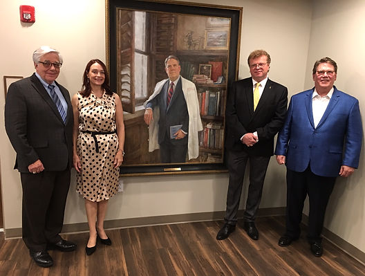 Wright Pinson portrait unveiling, with Dr. Billy Hudson, Dr. Julie Hudson, Igor Babailov, Hon.RAA, Dr. C.Wright Pinson, at the Hospital Hospitality House in Nashville, TN
