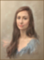 Portrait of Kate Eberstadt - Pastel by portrait artist Igor Babaiov. Collection: Washington, DC