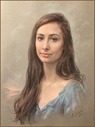 The Eberstadt Children - Portrait of Kate. Pastel by Igor Babaiov. Collection: Washington, DC