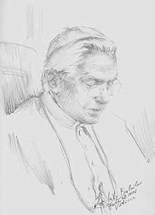 Pope Benedict XVI, 15-min Sketch from life, by Igor Babailov. The Seven Essentials of Portraiture.