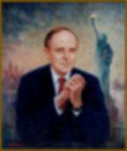 Portrait of Mayor Rudy Giuliani of NewYork City, portrait by Igor Babailov.