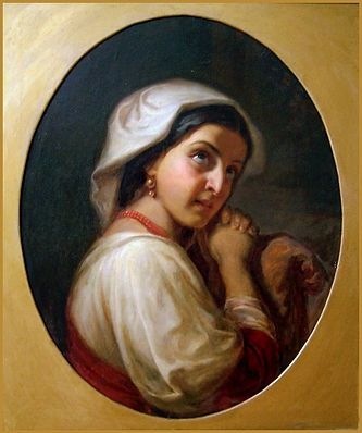 An Italian Girl (oil on canvas), a master-museum-copy after K.D. Flavitsky by Igor Babailov