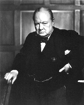 Winston Churchill by Yousuf Karsh (1941). In the very room where it hangs, Igor Babailov's official photograph was taken with two Prime Ministers of Canada and distinguished guests, on the occasion of Brian Mulroney's official portrait unveiling in 2002.