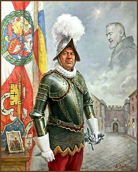 Official Portrait of Colonel Christoph Graf, Commander of the Pontifical Swiss Guard, Vatican - Portrait by portrait artist Igor Babailov, Collection: Vatican.